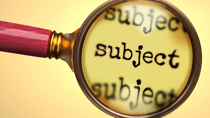 What is a Subject?